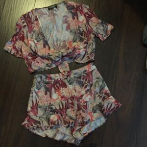 Zara Tropical Two Piece